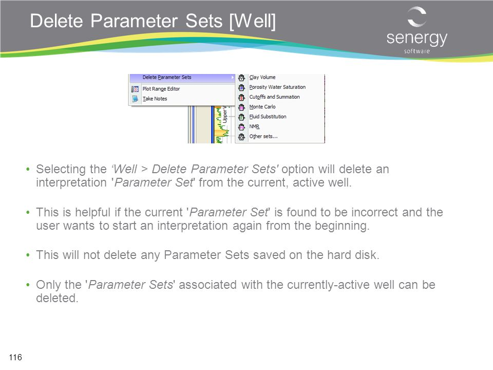 Delete Parameter Sets [Well]